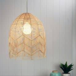 The Tanah natural cane pendant shade