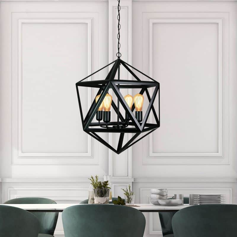 Using Black Feature Pendant in a Dining Room